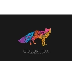 Fox logo color fox design animal logo vector