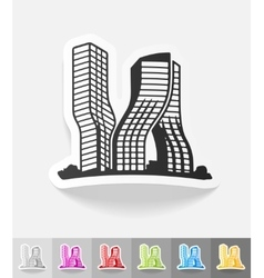 Realistic design element dubai building vector