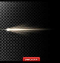 a golden light ray a light vector image vector image