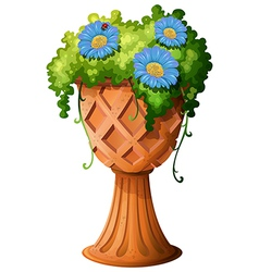 A pot with a plant vector image vector image
