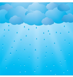 Background with clouds and rain vector