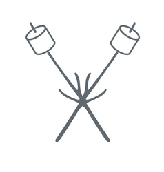 Barbecue marshmellow icon vector