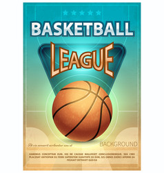 Basketball tournament sports poster vector