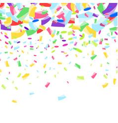 Cheerful bright colorful festive confetti falling vector