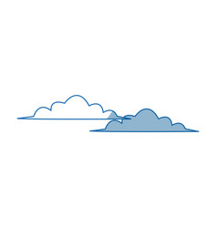 cloud climate sky day weather icon vector image