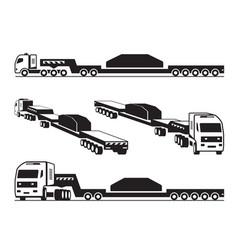 heavy duty truck transports cargo vector image vector image