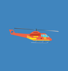 helicopter for passenger transportation vector image