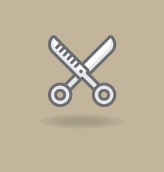 icon spinneress scissors of vector image
