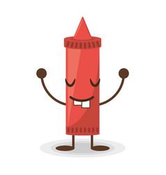 Kawaii ketchup tomato sauce vector