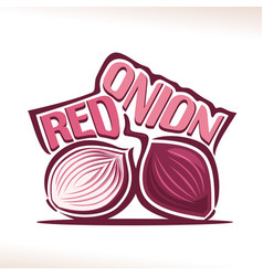 Logo for fresh red onion vector