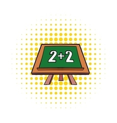 Math simple equation on chalk board icon vector