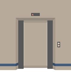 Open Doors Elevator vector image