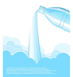 Pouring clean water background vector