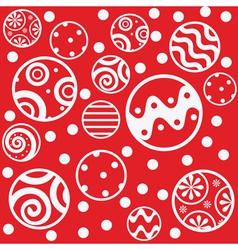 red seamless christmas balls vector image vector image