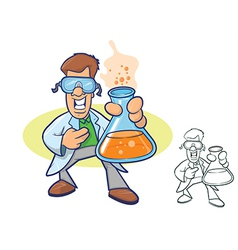 Scientist Cartoon vector image vector image