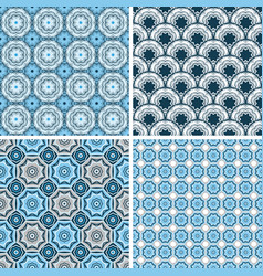 Seamless patterns in trendy minimal style vector