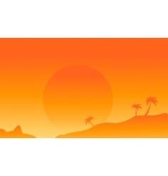 Silhouette of field flat vector image