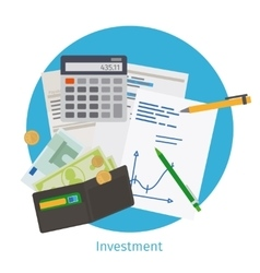 Smart investment concept vector image vector image