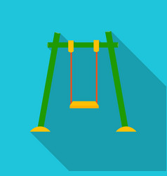 Swing icon in flat style isolated on white vector