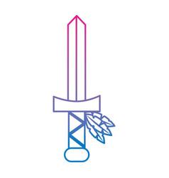 sword native american indian weapon vector image vector image