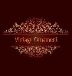 vintage floral ornament vector image vector image
