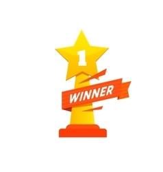 Winner icon award vector image vector image