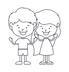 Isolated boy and girl cartoon design vector