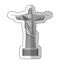 Corcovade christ isolated icon vector