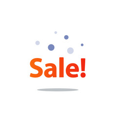 discount shopping promotion advertising vector image