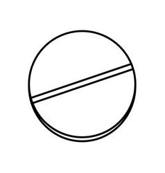 Medicine pill icon vector