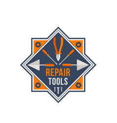 Repair tools icon for house repair work vector