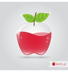 Apple fruit juice vector