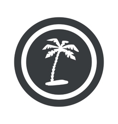 Round black vacation sign vector