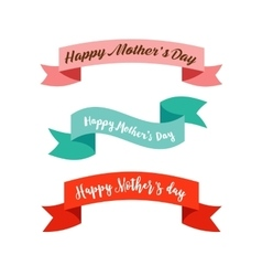 Happy mothers day ribbons banners vector