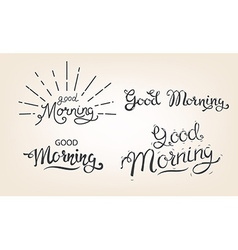 Good morning lettering set vector