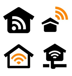 House wireless network vector image