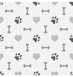Background with dog footprint vector