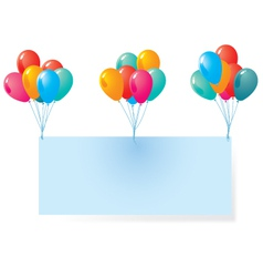 Balloon with blank background vector image