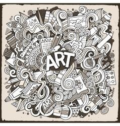 Cartoon cute doodles hand drawn Artistic vector image vector image
