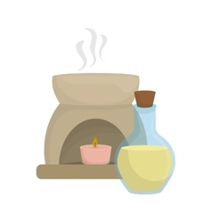 Decorative candle spa vector