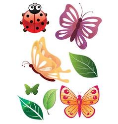 Floral Bugs vector image vector image