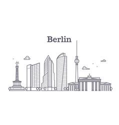 Germany berlin line landscape city vector