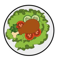 gourmet food design vector image