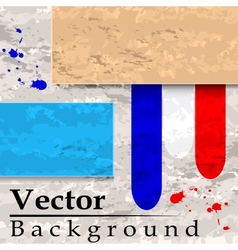 Grunge background with plates and lines vector image vector image
