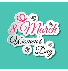 Happy Womens Day Words Blue vector image