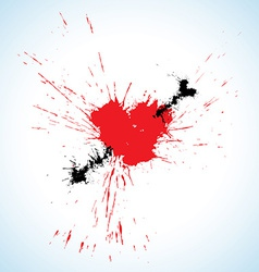 Heart and arrow blots vector image vector image