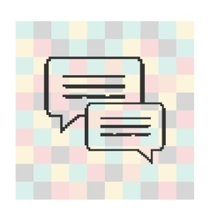 pixel icon speech bubbles on a square vector image