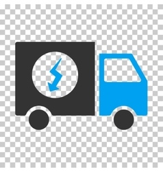 Power supply van eps icon vector