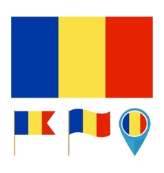 Romania country flag vector image