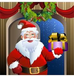 Santa delivery service vector